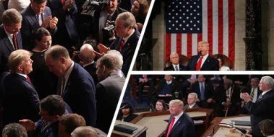 في خطاب ترامب الخاص بـ «الوحدة الأمريكية».. الأنقسام يضرب الولايات المتحدة