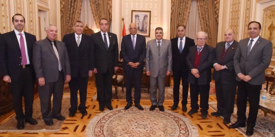 رئيس مجلس النواب يستقبل الفريق اسامه ربيع رئيس هيئة قناة السويس