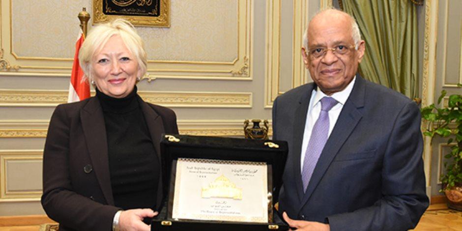 على عبد العال يستقبل وفد جمعية الصداقة المصرية الفرنسية بالبرلمان الفرنسى