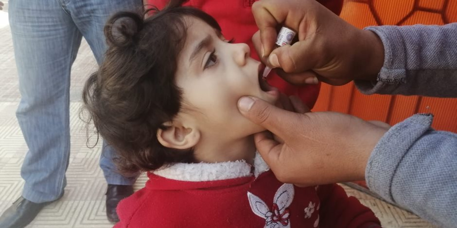 انطلاق فاعليات الحملة القومية للتطعيم ضد مرض شلل الاطفال بشمال سيناء (صور)