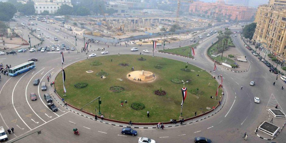 انتهاء 90% من أعمال تطوير ميدان التحرير (صور)
