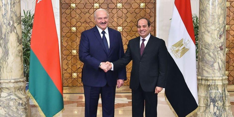 الرئيس عبد الفتاح السيسى  يستقبل   الرئيس ألكسندر لوكاشينكو رئيس جمهورية بيلاروس