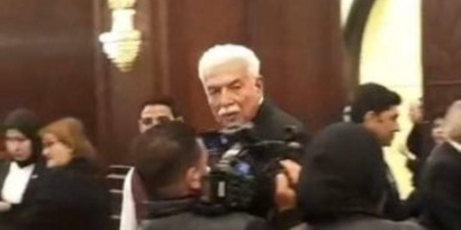 أحمد شفيق وحبيب العادلي وزكريا عزمي وعمرو موسى والخطيب في عزاء مبارك (صور)
