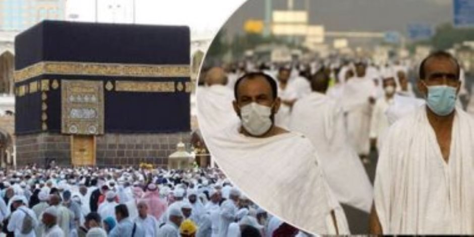 شاهد.. حجاج بيت الله الحرام أثناء طواف الوداع وسط إجراءات وقائية