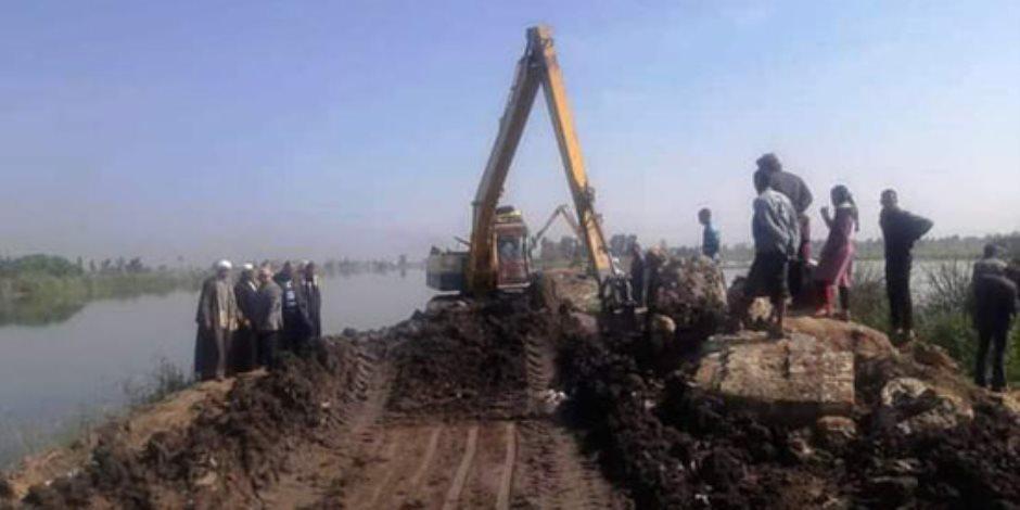 قصف جديد لبحر البقر.. الأمطار تغرق القرية الجريحة (صور)