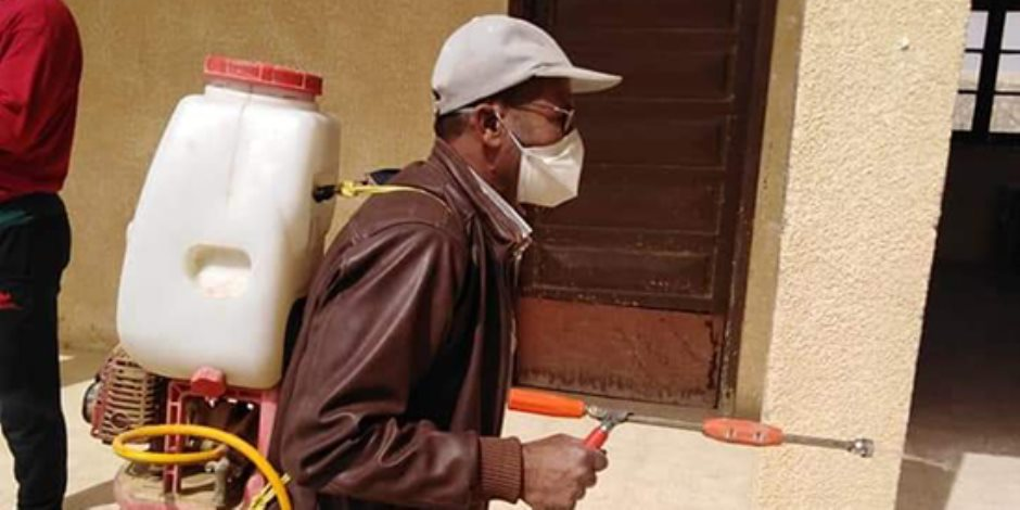 """""""شمال سيناء"""": تطهير وتعقيم 312 منشأة ومصلحة حكومية.. ورفع الطوارئ بالمنافذ البرية والبحرية ( صور)"""