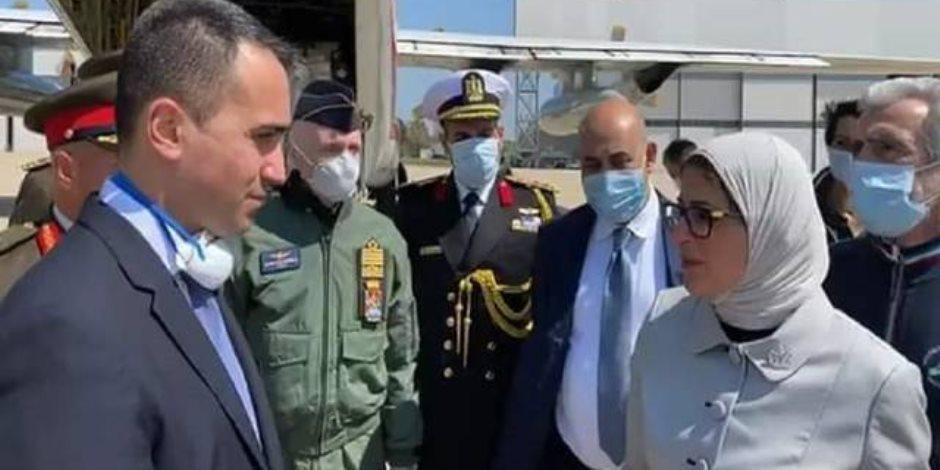 فيديو.. وزير خارجية إيطاليا يشكر مصر لإرسالها مساعدات طبية