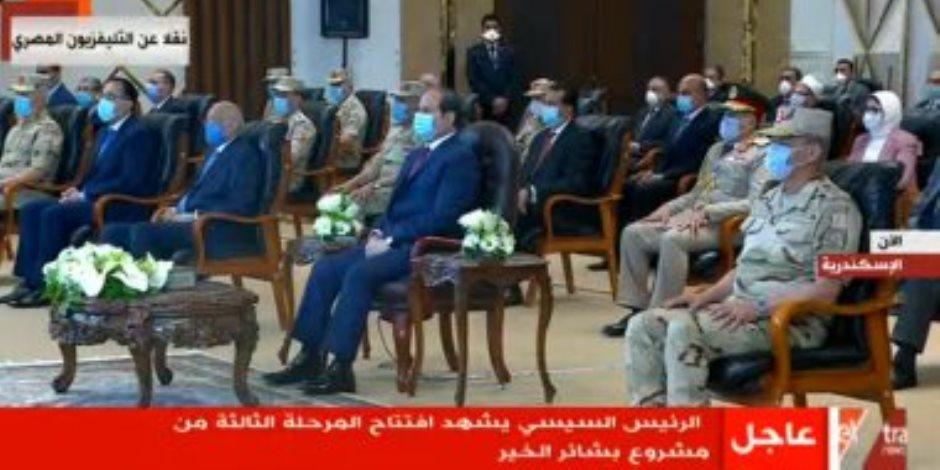 الرئيس السيسي يفتتح مشروع بشاير الخير 3 بمنطقة القباري بالإسكندرية (بث مباشر)