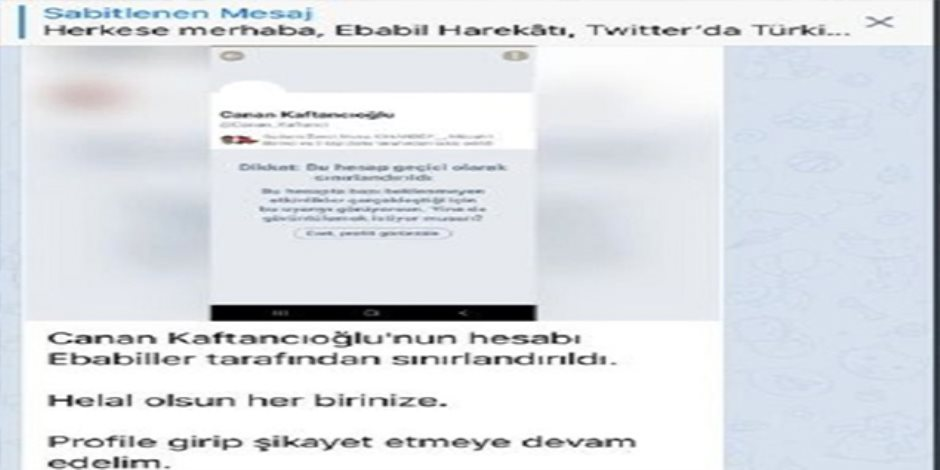 قصة غلق لجان أردوغان الإلكترونية لحساب المعارضة جانان كفتانجي على تويتر