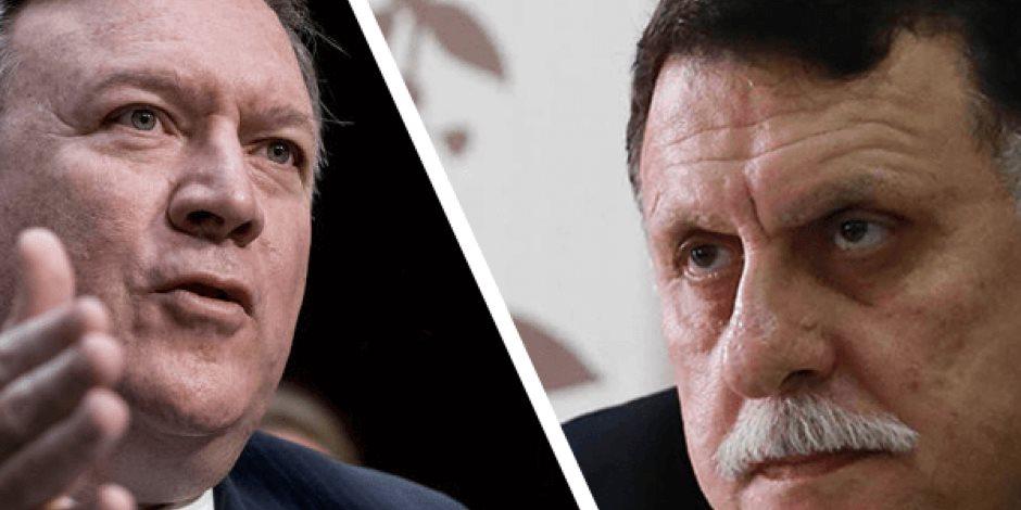 """بيان """"الوفاق"""" يحاول طمس الحقيقة.. بومبيو يعترض على تدفق الأسلحة إلى ليبيا"""