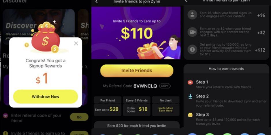 منافس تيك توك.. 6 معلومات عن التطبيق الصيني Zynn لعرض الفيديوهات القصيرة