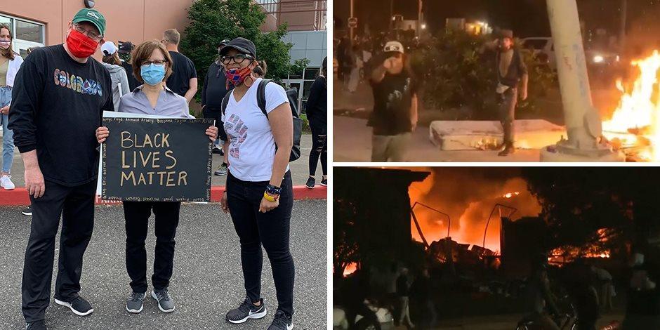 «أمريكا والفوضى».. التخريب يعم الاحتجاجات والشرطة تواصل اعتقال المواطنين