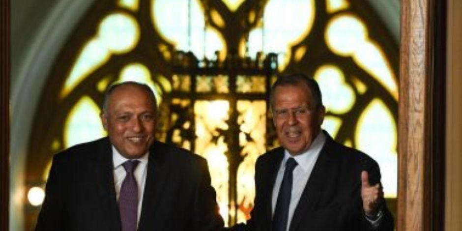 """دون التوصل لاتفاق ..شكرى يؤكد لـ""""لافروف"""" رفض مصر اتخاذ إثيوبيا لأى إجراء أحادى حول سد النهضة"""