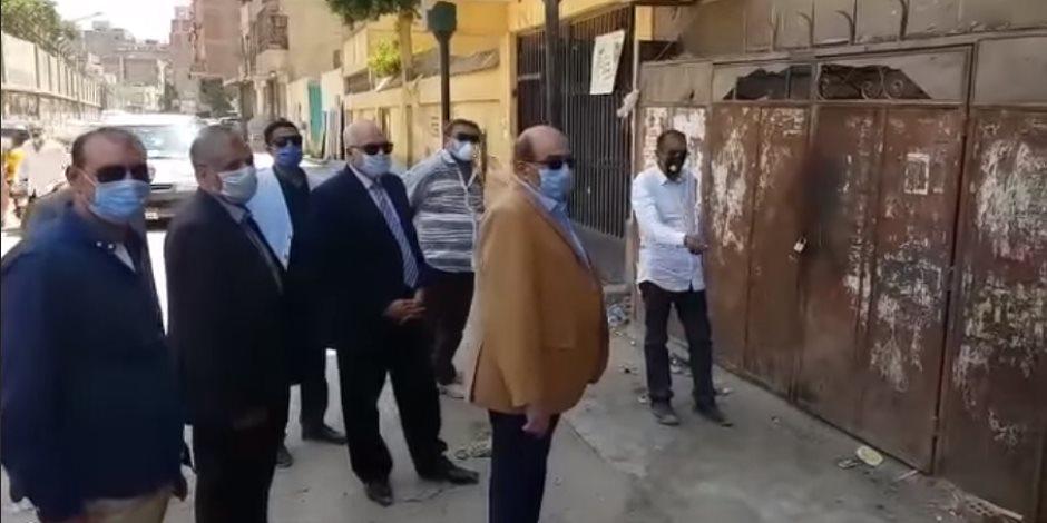 محافظ الجيزة يقود حملة لفتح الجراجات المغلقة في العمرانية (صور)