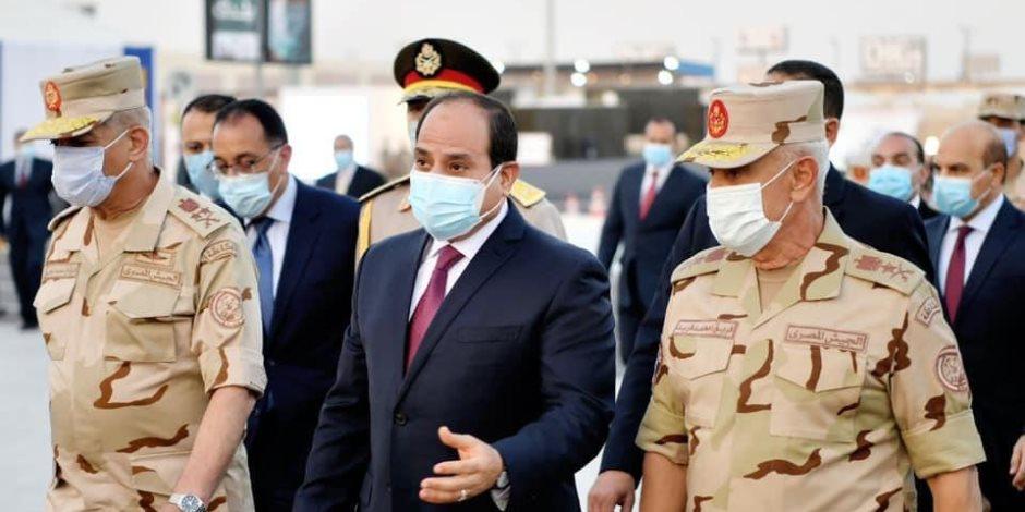 الرئيس السيسي يصل قصر البارون بمصر الجديدة لافتتاحه بعد ترميمه