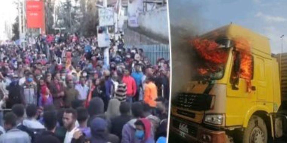حرب إثيوبيا تشتعل.. النسور والغربان تنتشر في السماء لزيادة جثث المعفنة