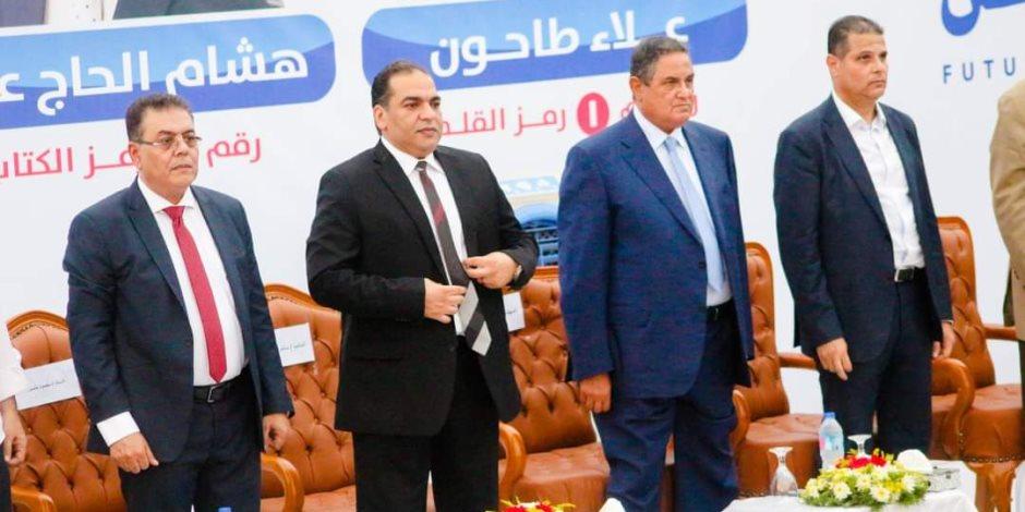 النائب أحمد الخشن يستضيف مرشحى الشيوخ بمنزله وسط حشد جماهيرى