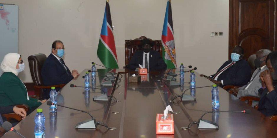 رئيس جهاز المخابرات ووزيرة الصحة يفتتحان المركز الطبي المصري الجديد في جنوب السودان