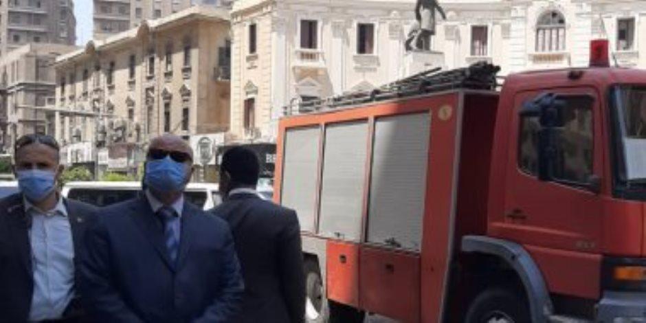 انهيار عقار في شارع قصر النيل وإنقاذ 18 شخصا