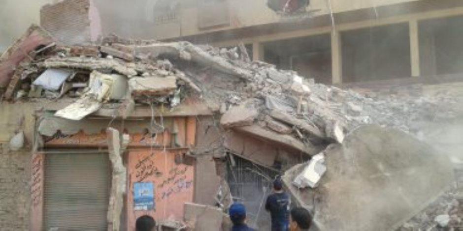 انهيار منزل مكون من 3 طوابق فى أسيوط والحماية المدنية تنقذ 3 أشخاص