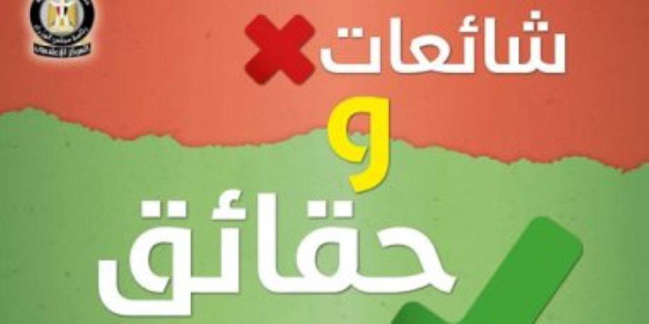 13 شائعة انتشرت في مصر خلال أسبوع.. الحكومة تقطع الشك بالأدلة