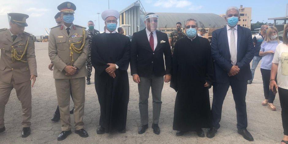 وصول طائرتي مساعدات من الكنيسة والأزهر لمطار بيروت (صور)