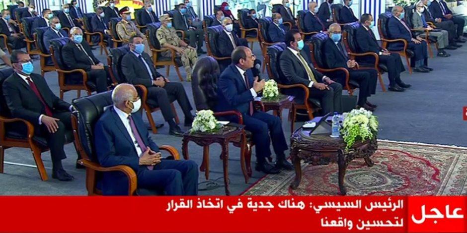 الرئيس السيسي: الإساءة والتشكيك من جانب قوى الشر هدفها إسقاط وطن