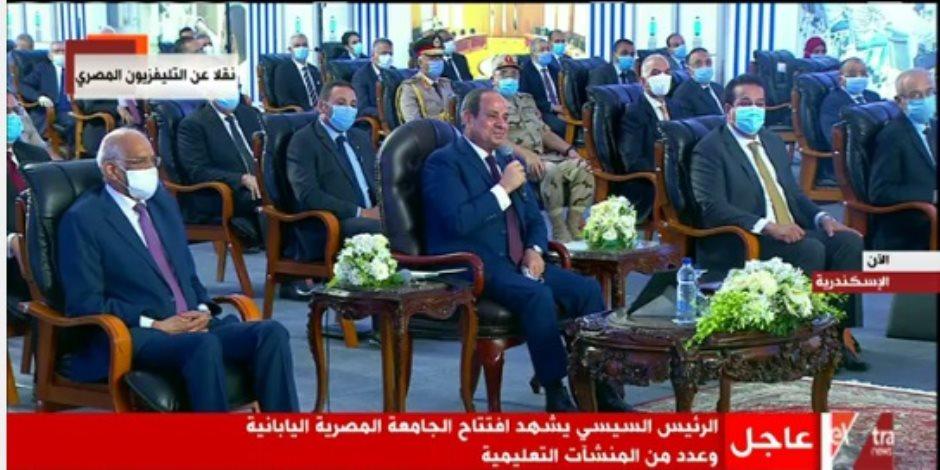 """الرئيس السيسي للمصريين: """"رغم كل التحديات هنقدر نتجاوز وننجح"""""""