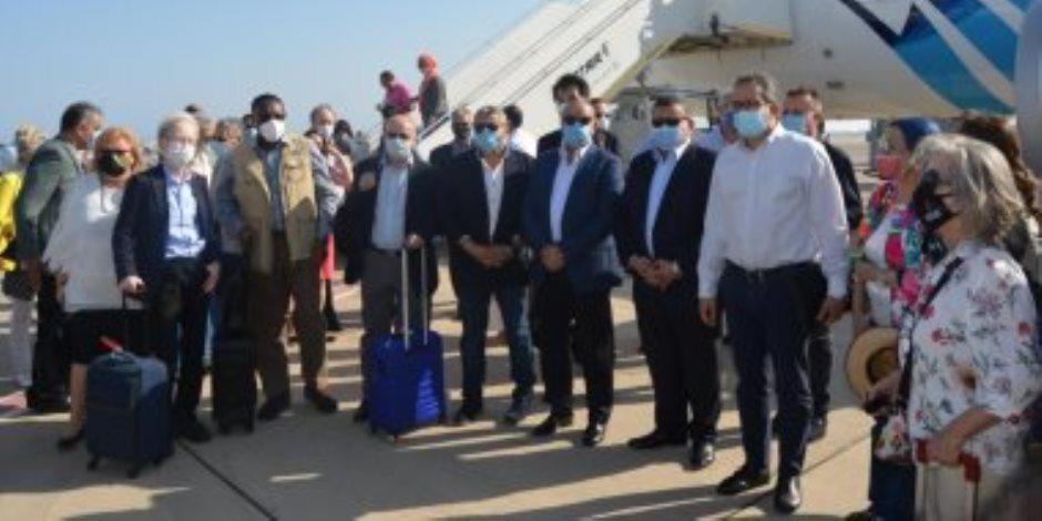 30 سفيراً يتفقدون مطار شرم الشيخ للتعرف على الإجراءات الاحترازية (صور)