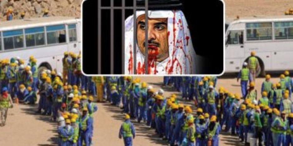 قطر العنصرية.. الصحف البريطانية تكشف انتهاكات حقوق العمال الأجانب فى مشروعات مونديال 2022