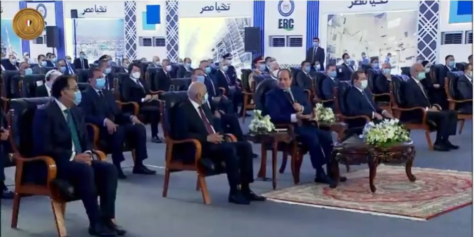 """الرئيس السيسى: """"لن تقوم دولة أساسها مبنى على خراب وتدمير.. ده ميرضيش ربنا"""""""