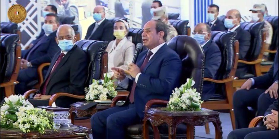"""السيسى محذرا المصريين والشعوب: """"اوعوا توصلوا بلدكم للخراب والدمار والتدمير"""""""
