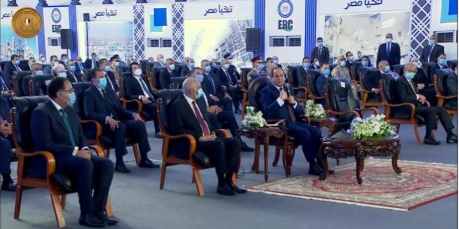 الرئيس السيسى يحذر المصريين من احتمالية حدوث موجة ثانية من كورونا