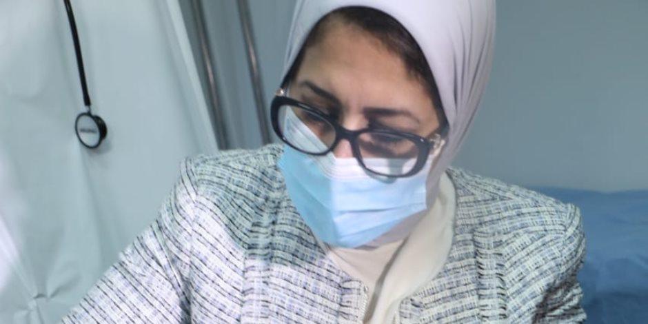 ننشر أول صور لوزيرة الصحة أثناء التوقيع علي وثيقة المشاركة بتجارب لقاح كورونا