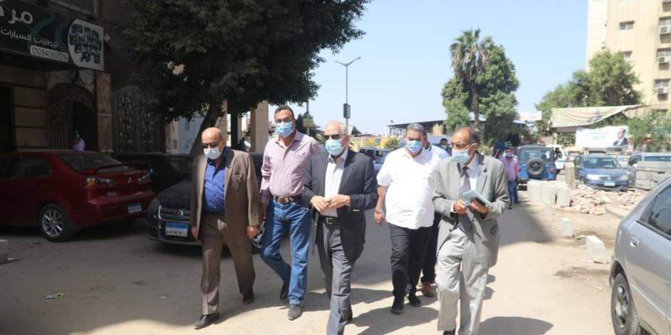 «الجيزة» تنفذ خطه تجريد وتمهيد للشوارع بالأحياء والمراكز (صور)