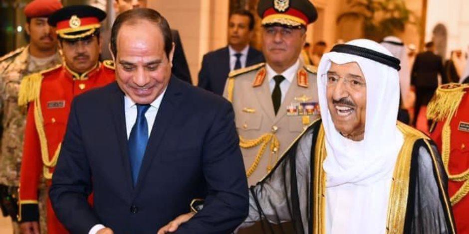 السيسي يوجه بإعلان حالة الحداد بجميع أنحاء الجمهورية لمدة 3 أيام لوفاة أمير الكويت