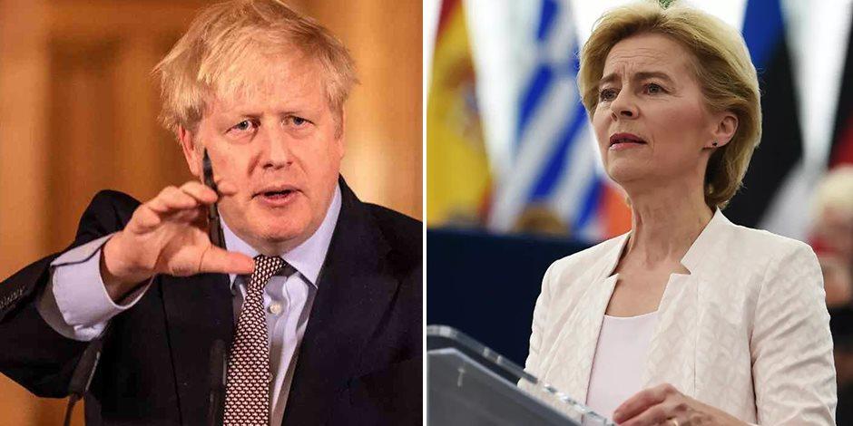 غموض مصير بريطانيا في الاتحاد الأوربي قبل آخر قمة بين جونسون وفون دير لاين.. والخميس المقبل الفرصة الأخيرة للاتفاق