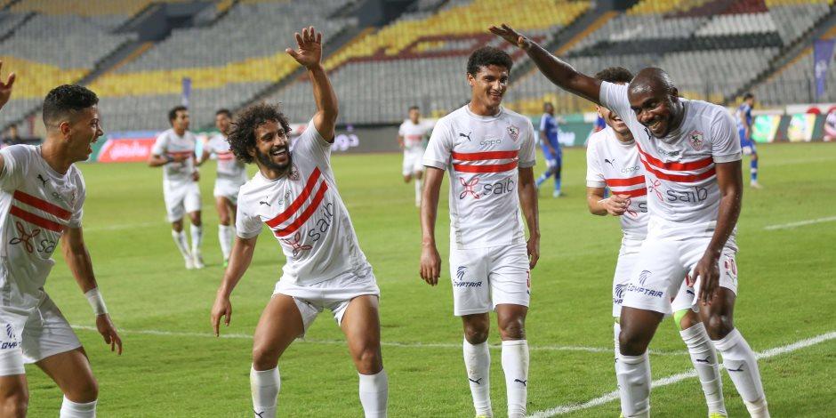 الزمالك يتعادل سلبيا مع نادى مصر فى الشوط الأول بموقعة كأس مصر