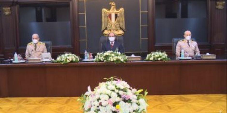 السيسى يترأس اجتماع المجلس الأعلى للقوات المسلحة لمناقشة مكافحة الإرهاب