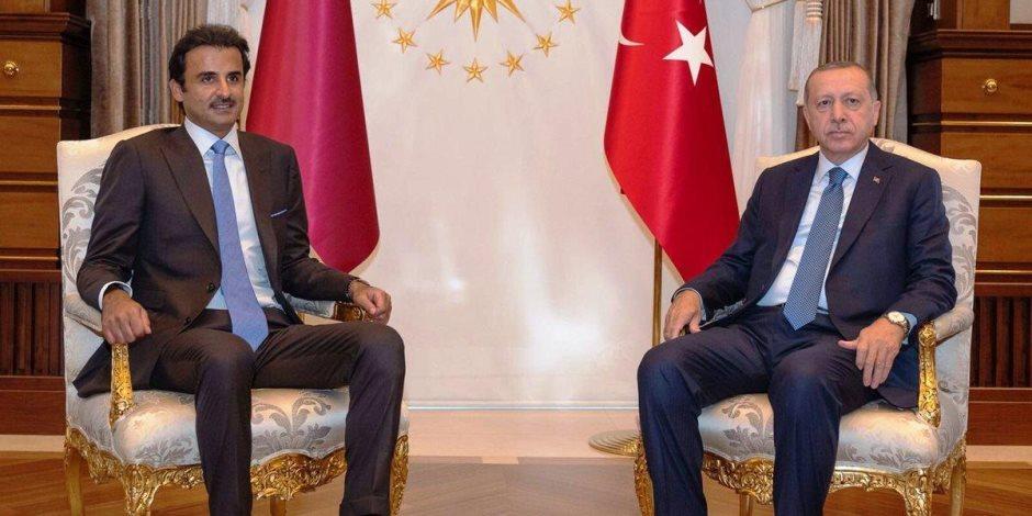 تميم بن حمد خزينة أموال أردوغان.. أمير قطر يصر على دعم اقتصاد تركيا المنهار