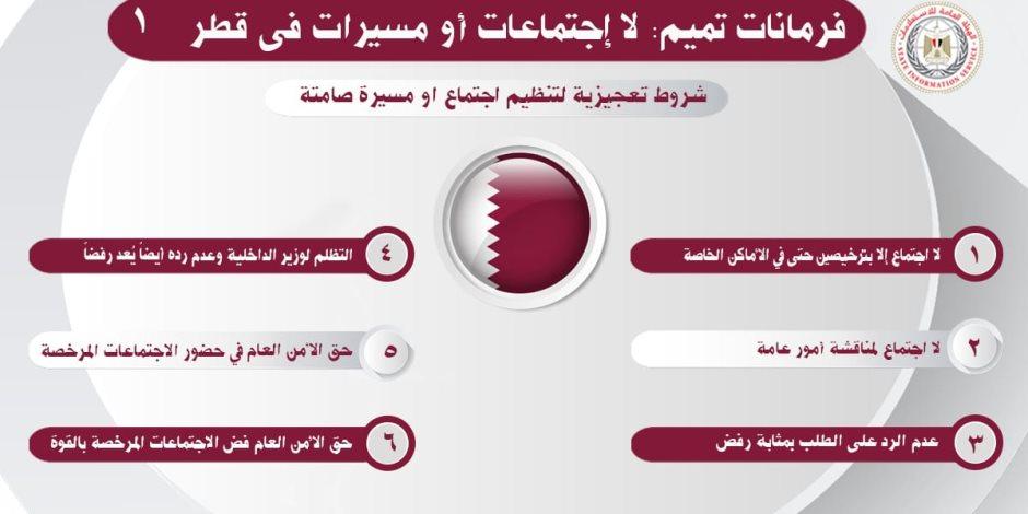 فرمانات تميم في قطر: لا مسيرات.. وعزومة في بيتك تدخلك السجن