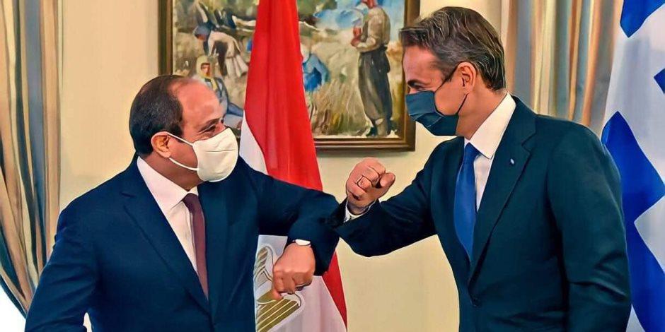 """رسائل القمة الثلاثية بين مصر وقبرص واليونان.. رفض السياسات الاستفزازية في """"شرق المتوسط"""" وتفكيك المليشيات الإرهابية في ليبيا"""