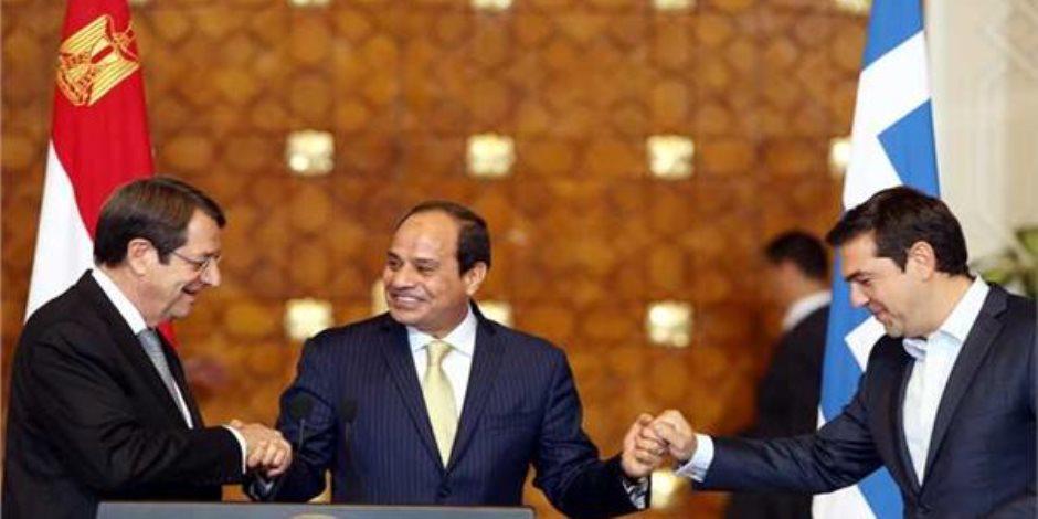 قمة الأصدقاء..أهم رسائل الرئيس السيسى بالقمة الثلاثية بين مصر وقبرص واليونان