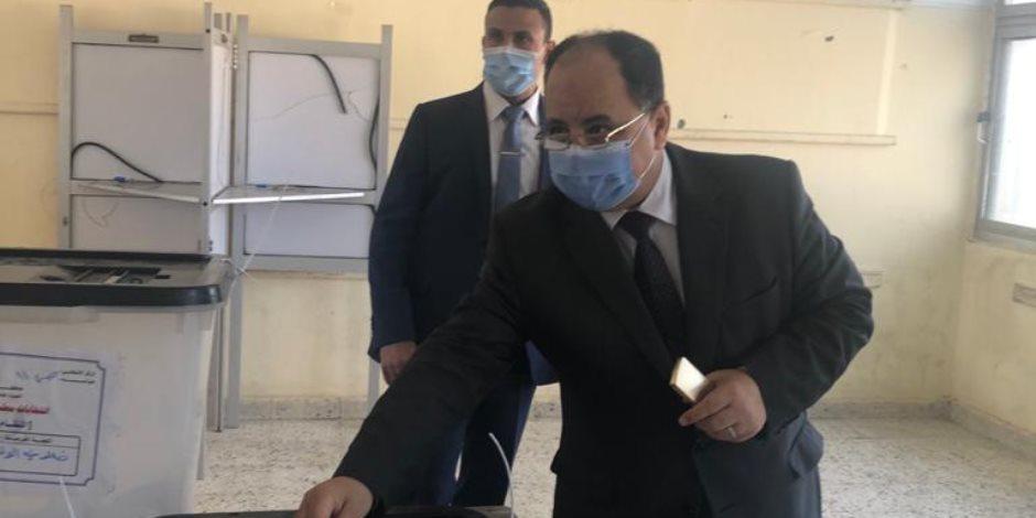وزير المالية يصل مقر لجنته الانتخابية بمدينة 6 أكتوبر