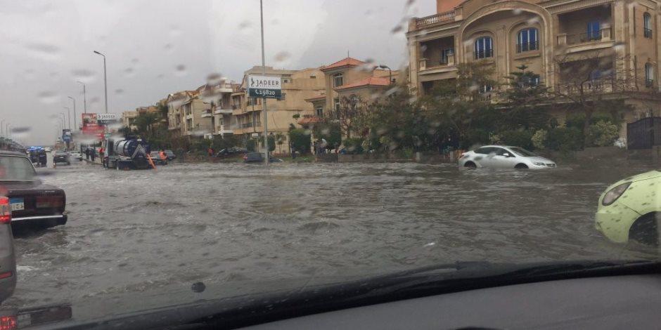"""""""شتاء دون كوراث"""".. كيف أنقذت الحكومة سكان القاهرة الجديدة من مخاطر السيول؟"""