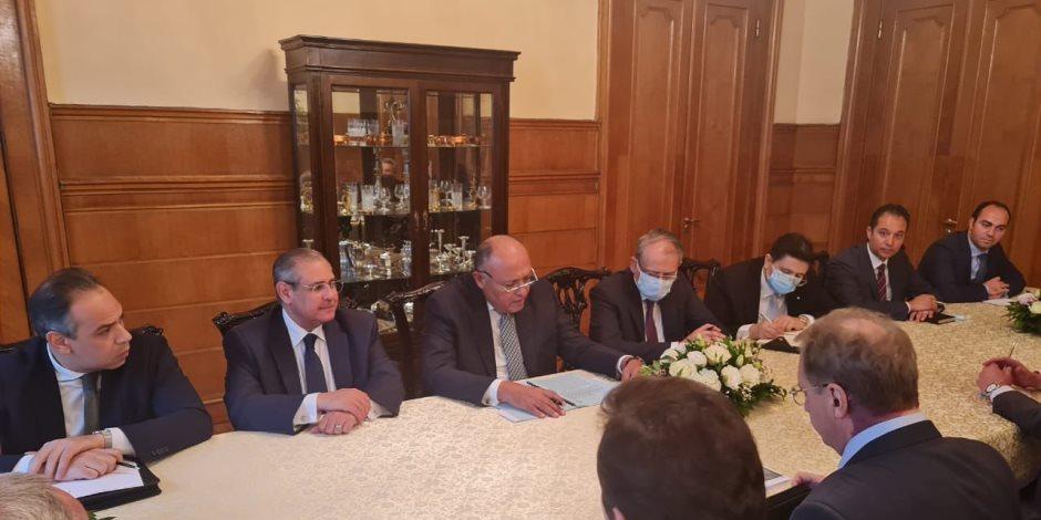 سامح شكرى يبحث مع نائب وزير خارجية روسيا سُبل تطوير العلاقات.. صور
