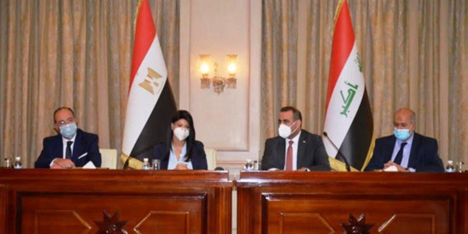 وزيرة التعاون الدولي تعقد جلسة مباحثات ثنائية مع نائب رئيس الوزراء العراقى