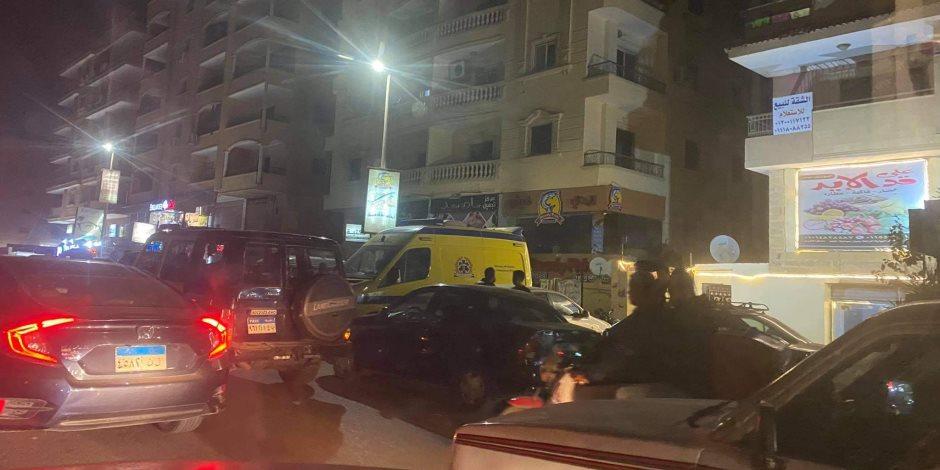 تفاصيل مذبحة حدائق الأهرام: شاب يقتل والدته وشقيقه طعنا بالسكين ويشرع في قتل زوج شقيقته ونجلها