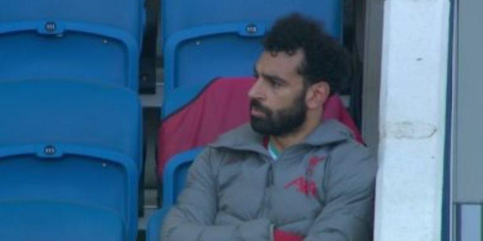شاهد.. محمد صلاح يغضب بعد استبداله بماني في مباراة ليفربول وبرايتون