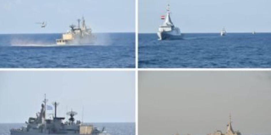 القوات البحرية المصرية واليونانية تنفذان تدريبا بحريا عابرا في بحر إيجه